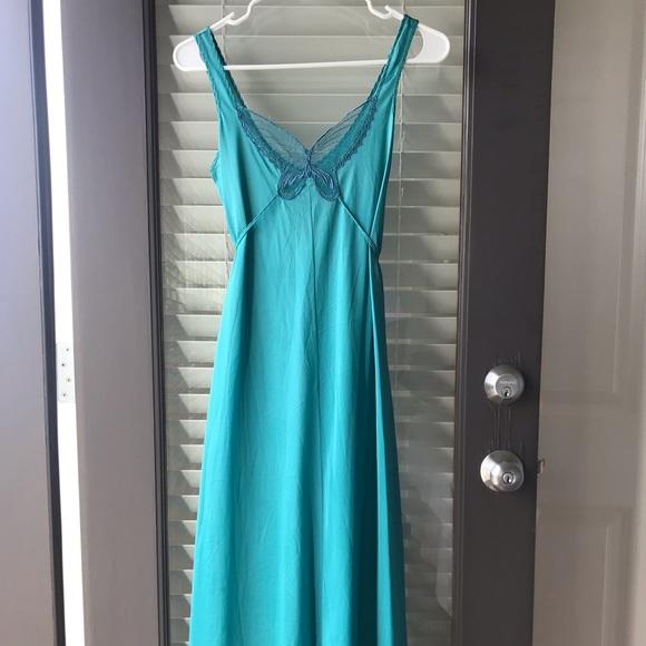 Vintage Dresses & Skirts - Vintage 1970's Lace butterfly Slip Dress